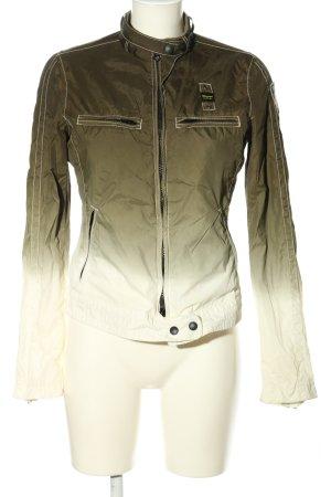 Blauer Kurtka przejściowa khaki-biały Gradient W stylu casual