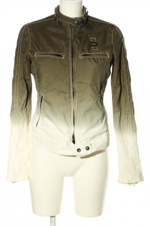 Blauer Übergangsjacke khaki-weiß Farbverlauf Casual-Look