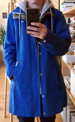 Khujo Heavy Raincoat blue-neon blue mixture fibre