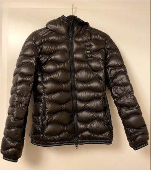 Blauer USA Pikowana kurtka ciemnozielony Poliester