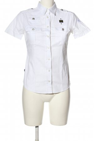Blauer USA Camicia a maniche corte bianco stile casual