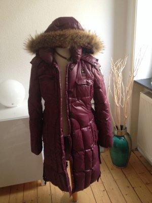 Blauer Manteau violet