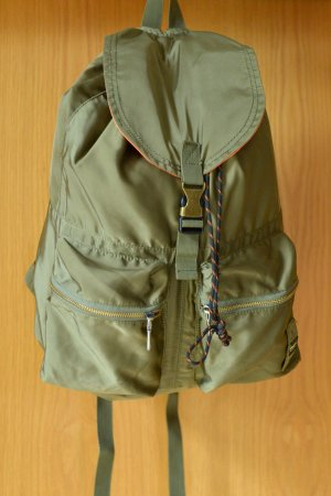 BLAUER USA Rucksack Daypack Tagesrucksack Military unisex Grün Oliv Khaki glänzend