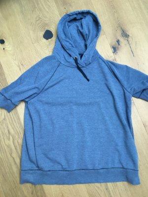 Blauer Bluza z kapturem szary niebieski