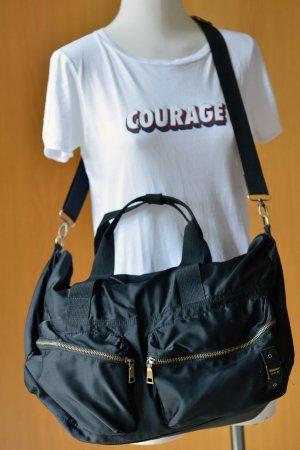 Blauer USA Bolso de tela negro-color bronce