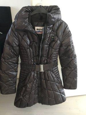 Blauer Płaszcz puchowy ciemnobrązowy