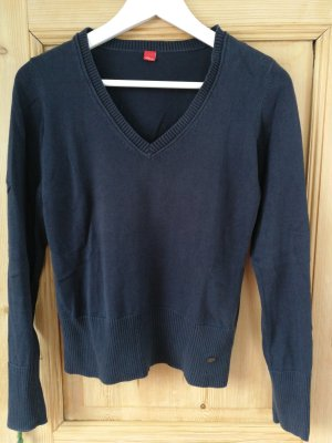 s.Oliver V-Neck Sweater blue-dark blue