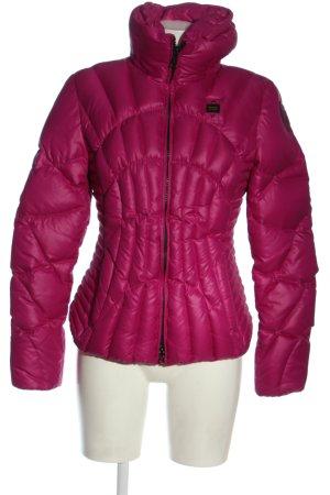 Blauer Veste d'hiver rose style décontracté