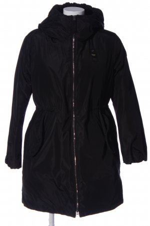 Blauer Veste d'hiver noir style décontracté