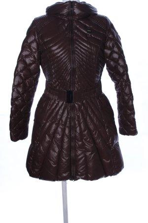 Blauer Płaszcz zimowy brązowy Pikowany wzór W stylu casual