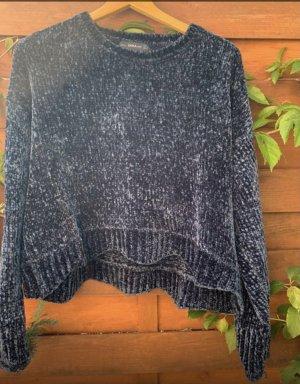 Zara Knit Gehaakte trui donkerblauw