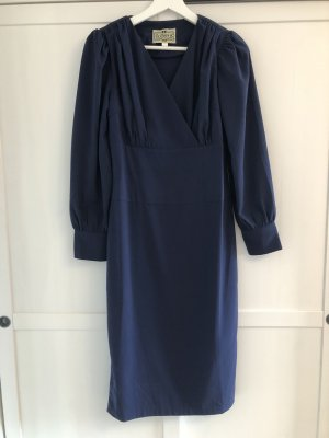Collectif Longsleeve Dress blue