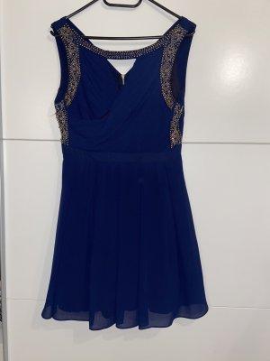 Blaues Abendkleid in 40