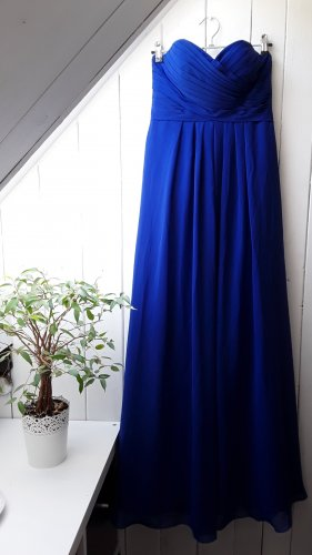 Blaues Abendkleid mit Korsage
