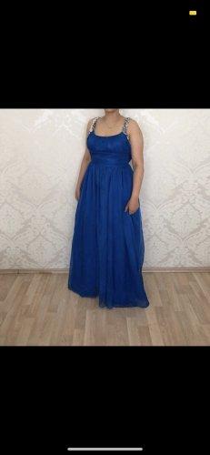 Blaues Abendkleid mit Pailetten