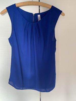 Blaues ärmelloses Blusen top