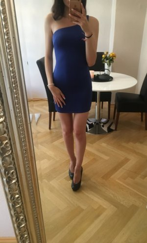 Asos One Shoulder Dress blue