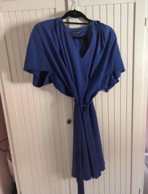 Balenciaga Vestido de manga corta azul