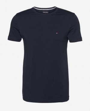 Blaues Basic Tommy T-Shirt