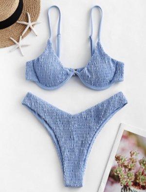 Zaful Bikini blu