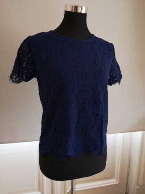 blaues Blusen-Shirt