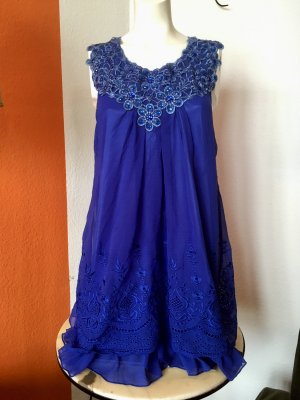 Blaues Chiffon Kleid