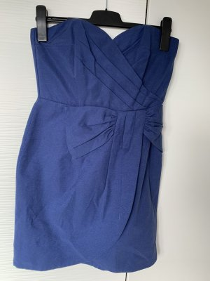 H&M Bandeau Dress blue-dark blue