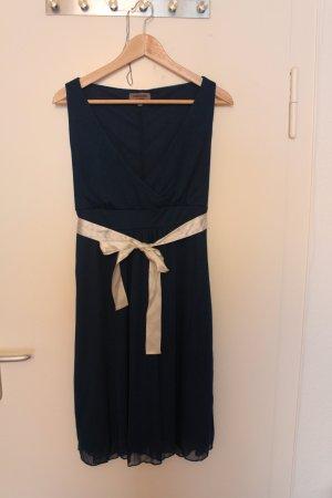 Zalando Cocktail Dress dark blue-white