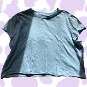 blaues cropped Shirt