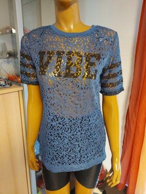blaues Damen T-Shirt Gr. 40/42