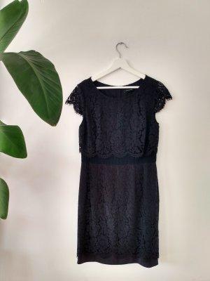 Comma Vestido ceñido de tubo azul oscuro