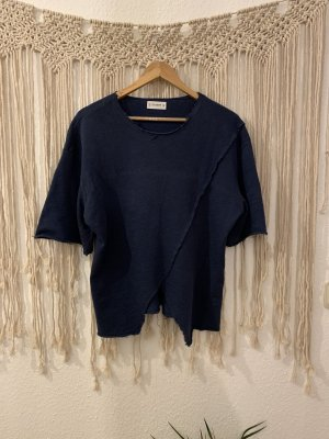 Blaues Fransenshirt