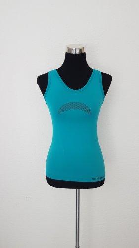 Authentic T-shirt de sport bleu fluo-gris foncé
