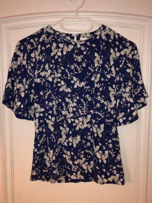 blaues geblümtes Tshirt / Bluse