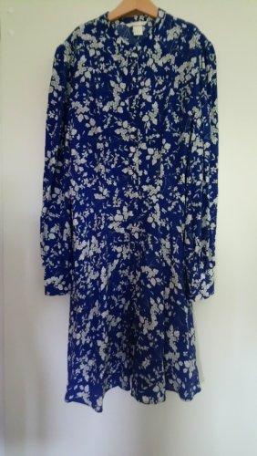 Blaues Gemustertes Kleid H&M 38