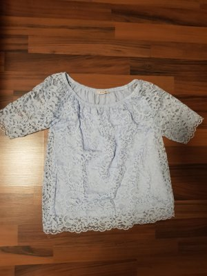 Orsay Crochet Shirt baby blue