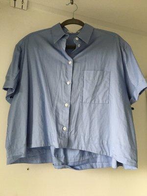 Mango Suit Camicia a maniche corte bianco-azzurro