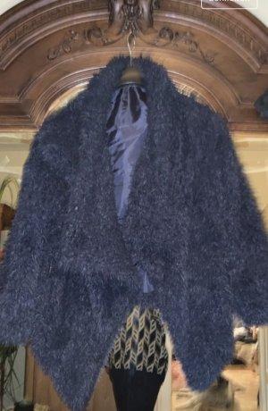no name Fake Fur Jacket dark blue