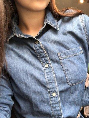 Asos Denim Jeansowa koszula stalowy niebieski-niebieski