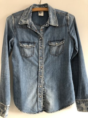 H&M Denim Shirt blue-light blue