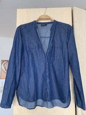 Blaues Jeanshemd Hemd Bluse Jeansbluse G!na 38
