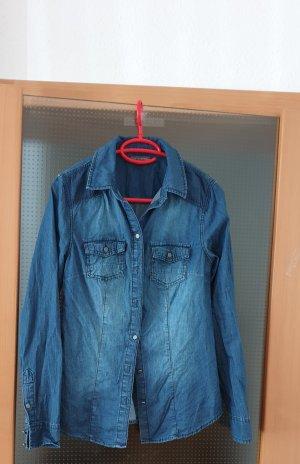 Street One Camicia denim blu acciaio-blu fiordaliso