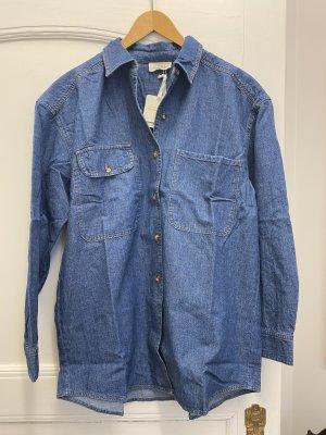 American Vintage Blouse en jean bleu