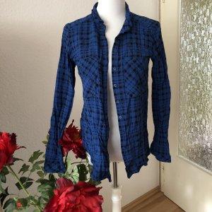 Reserved Blusa a cuadros negro-azul