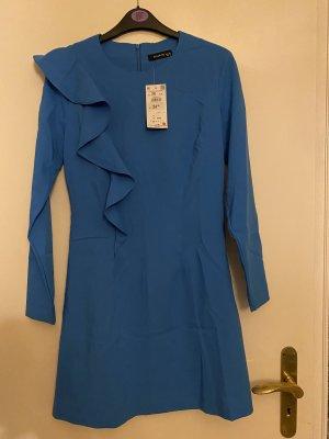 Reserved Vestido estilo flounce azul aciano