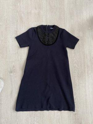 Blaues Kleid aus Wollmischung