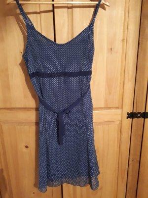 Blue Motion Szyfonowa sukienka niebieski-ciemnoniebieski