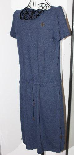 Kazane Vestido de tela de sudadera azul oscuro