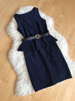 Vestito peplo blu scuro