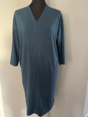 Uniqlo Abito jersey blu acciaio-blu fiordaliso Tessuto misto
